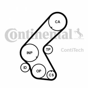 Hammasrihma komplekt CONTITECH CT1014K3