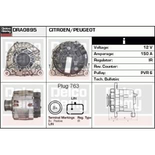 Generaator DELCO REMY DRA0895