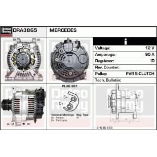 Generaator DELCO REMY DRA3865