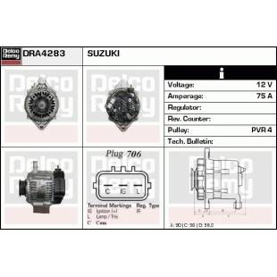 Generaator DELCO REMY DRA4283