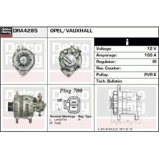Generaator DELCO REMY DRA4285