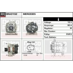 Generaator DELCO REMY DRA0102