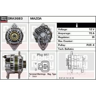 Generaator DELCO REMY DRA3683