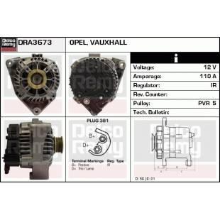 Generaator DELCO REMY DRA3673