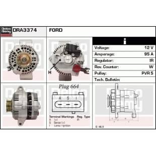 Generaator DELCO REMY DRA3374