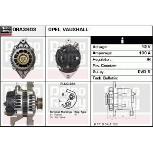 Generaator DELCO REMY DRA3903
