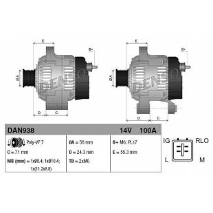 Generaator DENSO DAN938