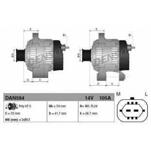 Generaator DENSO DAN584
