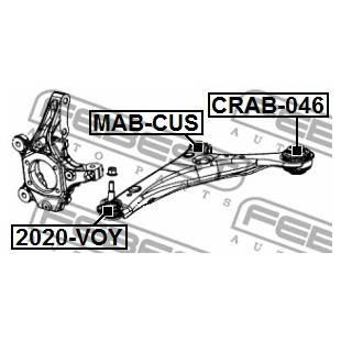 Rem.komplekt,juhtvarras FEBEST CRAB-046