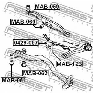 Rem.komplekt,juhtvarras FEBEST MAB-123