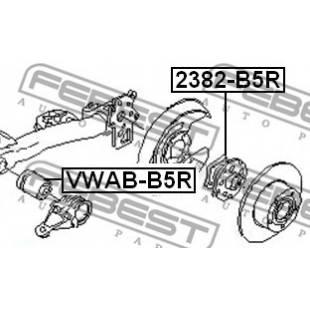 Rem.komplekt,juhtvarras FEBEST VWAB-B5R