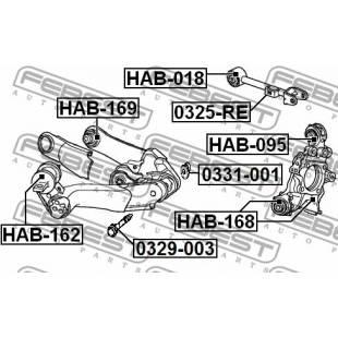 Rem.komplekt,juhtvarras FEBEST HAB-169