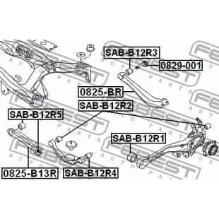 Rem.komplekt,juhtvarras FEBEST SAB-B12R1