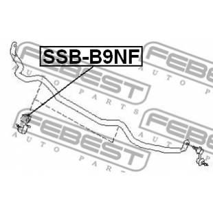 Stabilisaatori varda kumm FEBEST SSB-B9NF