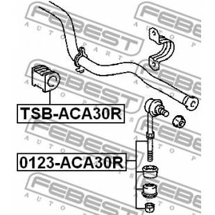 Stabilisaatori varda kumm FEBEST TSB-ACA30R