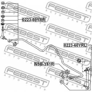 Stabilisaatorivarras FEBEST 0223-60YRL