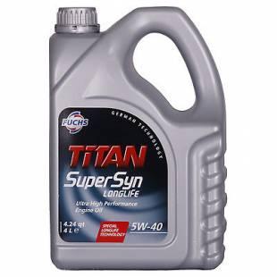 Mootoriõli FUCHS 5W40 TITAN SUPERSYN LONGLIFE 4L