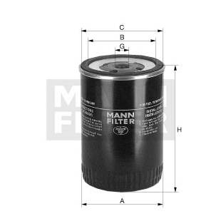 Kütusefilter MANN-FILTER WDK 11 102/23