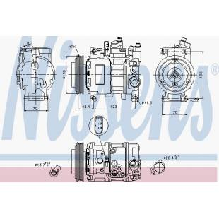 Kompressor,kliimaseade NISSENS 89049