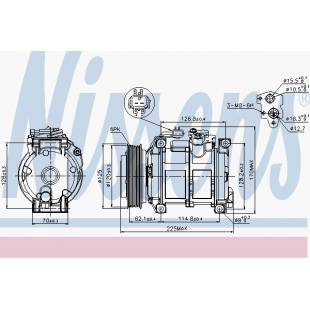 Kompressor,kliimaseade NISSENS 89074