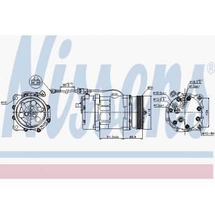 Kompressor,kliimaseade NISSENS 89224