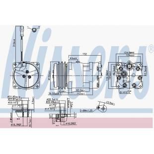 Kompressor,kliimaseade NISSENS 89819
