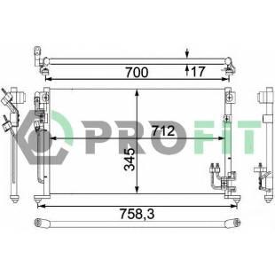 Kondenser PROFIT PR 1601C1