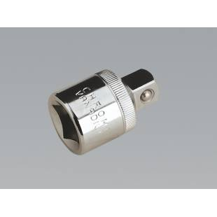 "Adaptor 1/2""Sq Drive Female to 3/8""Sq Drive Male SEALEY TOOLS S12F-38M"