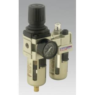 Air Filter/Regulator/Lubricator Max Airflow 60cfm SEALEY TOOLS SA106