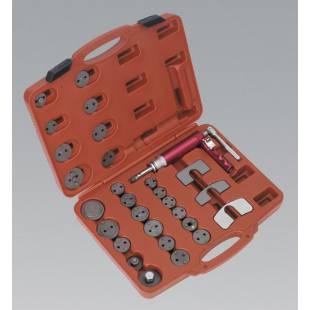 Air Operated Brake Piston Wind-Back Tool Kit 29pc SEALEY TOOLS VS0286