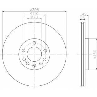 Piduriketas STELLOX 6020-1111V-SX