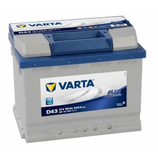 Battery VARTA D43 60AH 540A 242x175x190
