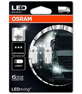 Lamp LED PREMIUM (W5W) 1W 24V W2,1X9,5D 6000K BLISTER-2TK OSRAM
