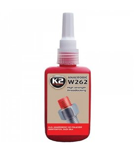 K2 W262 HIGH STRENGHT THREADLOCKING PUNANE KEERMELIIM50ML