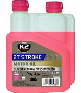 K2 2T STROKE OIL 2T MOOTORIÃ•LI PUNANE 500ML K2O528REDML500S