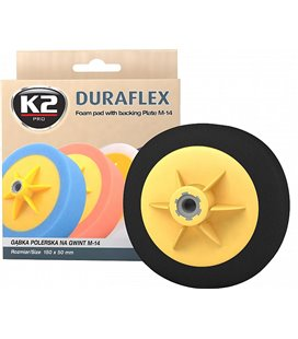 K2 DURAFLEX BLACK FINISHING POLEERIMISPADI 150X50MM M14 K2L644