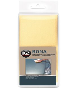 K2 BONA MIKROFIIBER LAPP POLEERIMISEKS JA KUIVATAMISEKS 40X40CM K2L430