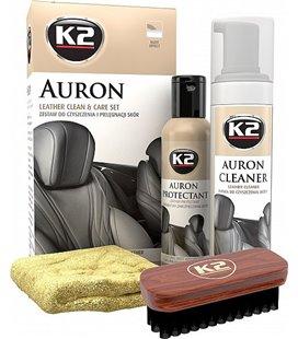 K2 AURON LEATHER CLEANER & CARE KIT NAHAHOOLDUSKOMPLEKT K2G420