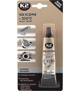 K2 SILICONE BLACK SILIKOONHERMEETIK MUST 21G/TUUB K2B2150