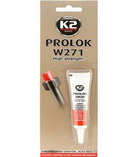 K2 PROLOK W271 HIGH STRENGHT ANAEROOBNE PUNANE KEERMELIIM 6ML