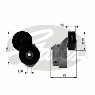 Belt tensioner Gates T38430