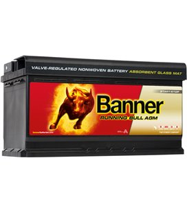 BANNER AKU RUNNING BULL AGM 92AH 354X175X190 - + 850A BA59201