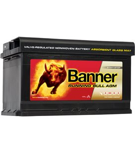 BANNER AKU RUNNING BULL AGM 80AH 315X170X190 - + 800A BA58001