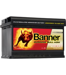 BANNER AKU RUNNING BULL AGM 70AH 278X175X190 - + 760A BA57001