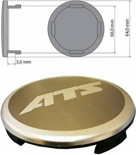 ATS KAPSEL 63,8MM GRAFIITHALL, PLAST/METALL AT9N41GR