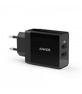 ANKER 24W 2X2,4A USB LAADIJA MUST 100-240V A2021L11