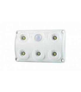 LWD2156 SALONGI SISEVALGUSTI 5-LED LIIKUMISANDURIGA 75X120X16 12/24V IP65 999185170