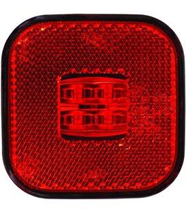 KÜLJETULI LED PUNANE 62X62 12/24V 0,5M JUHTMEGA 999082040