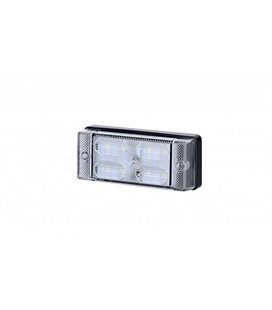 LCD657 TAGURDUSTULI AR/SALONGIVALGUSTI LED 107,6X45,6MM VALGE 12/24V 999040640