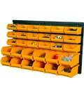 Storage boxes, perforated stands, modular systems